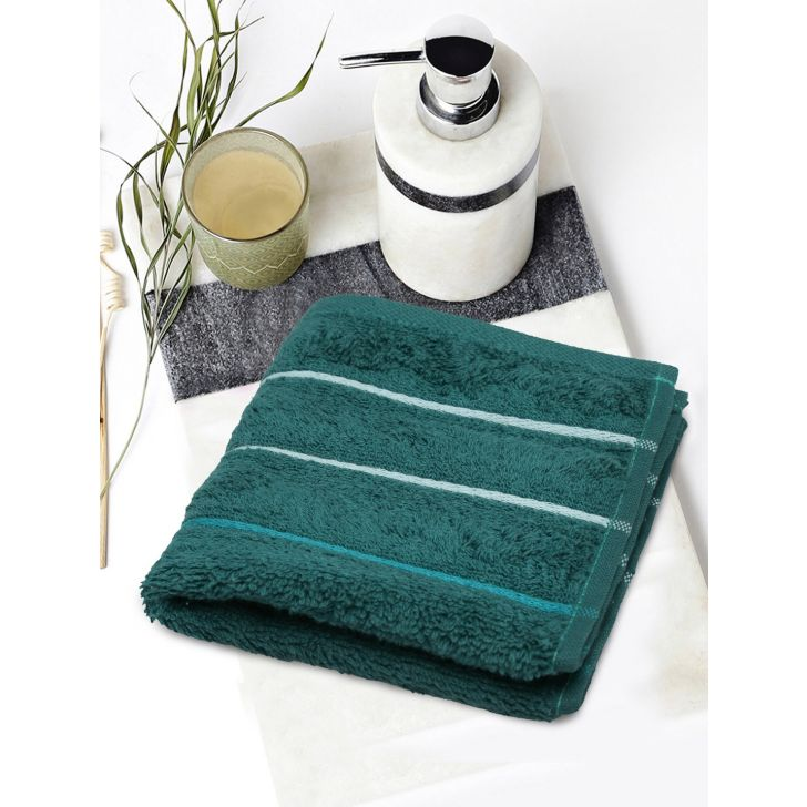 Portico New York Myra Multistripe Face Towel 30 cms x 30 cms in Earth Color by Portico