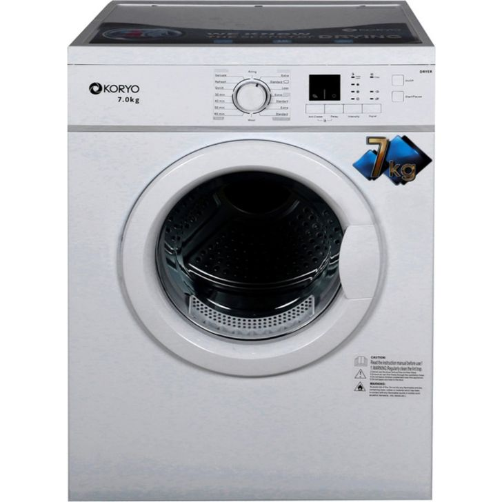KCD7018WD Plastic Dryer in White Colour by Koryo