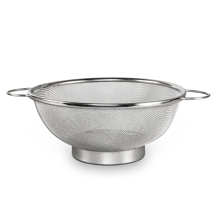 Maples Elephant Colander Basket Silver Stainless steel Kitchen Storage in Silver Colour by Living Essence