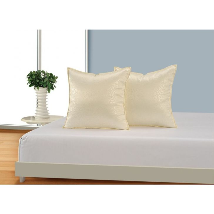 Solid Cushion Cover 16 In Cream Color By Swayam
