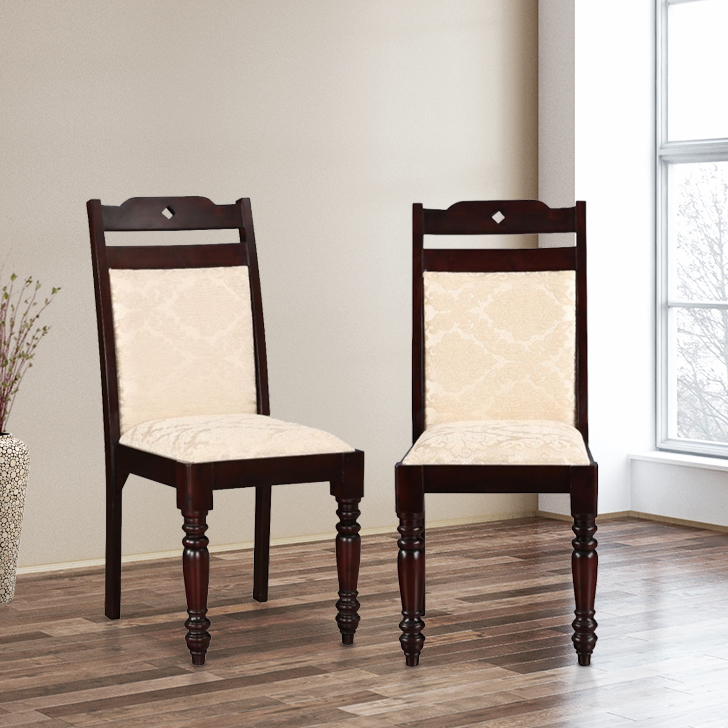 Classic Modular Kitchen Cabinets Rs 18000 Piece: Buy Baylor Solid Wood Dining Chair Set Of Two In Dark