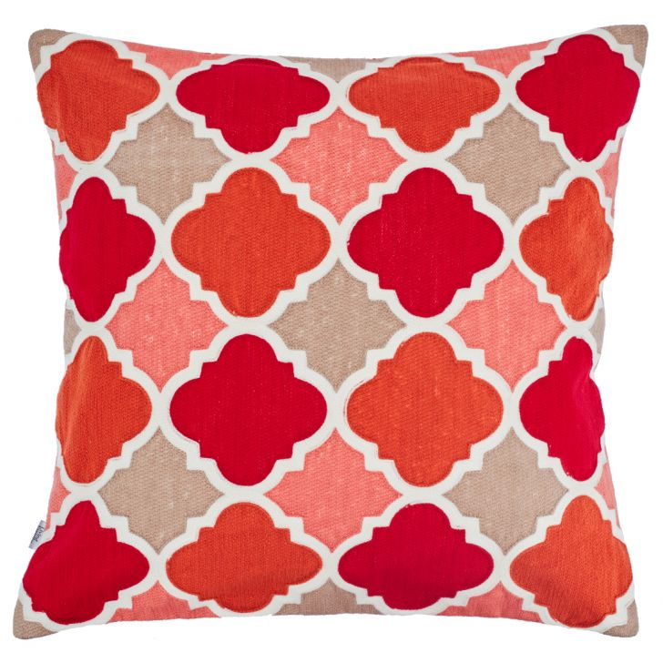Jordan Cushion Cover Polyester Cushion Covers in Maroon Colour by Living Essence
