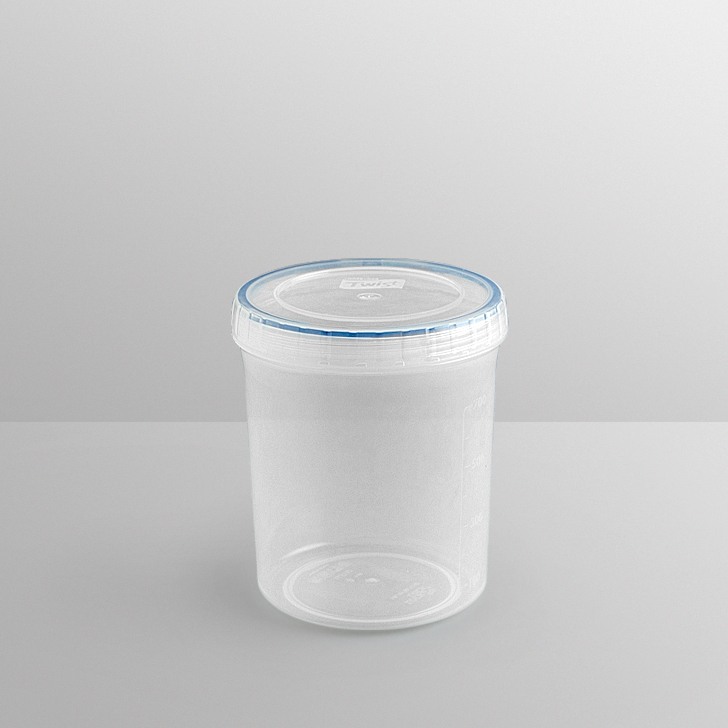 Lock & Lock Round Twist Container 1 Ltr Polypropylene Containers in Transparent Colour by Lock & Lock