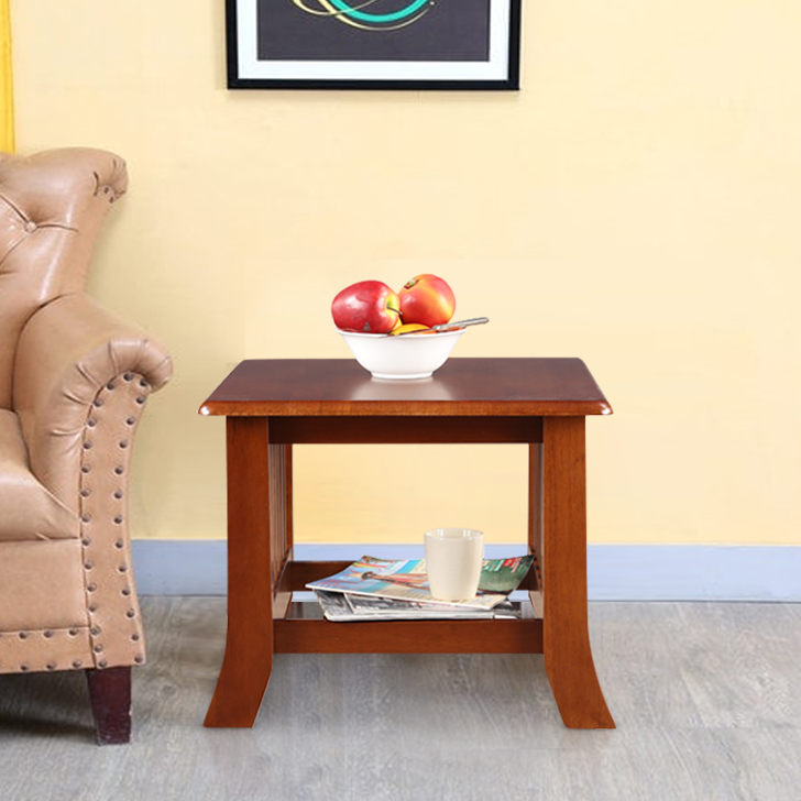 Aubrey Solid Wood End Table in Dirty Oak Colour by HomeTown