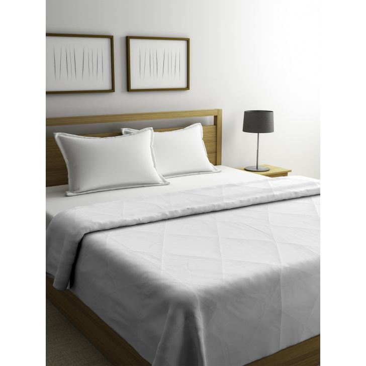 Portico New York Forever White Double Comforter in White Color by Portico