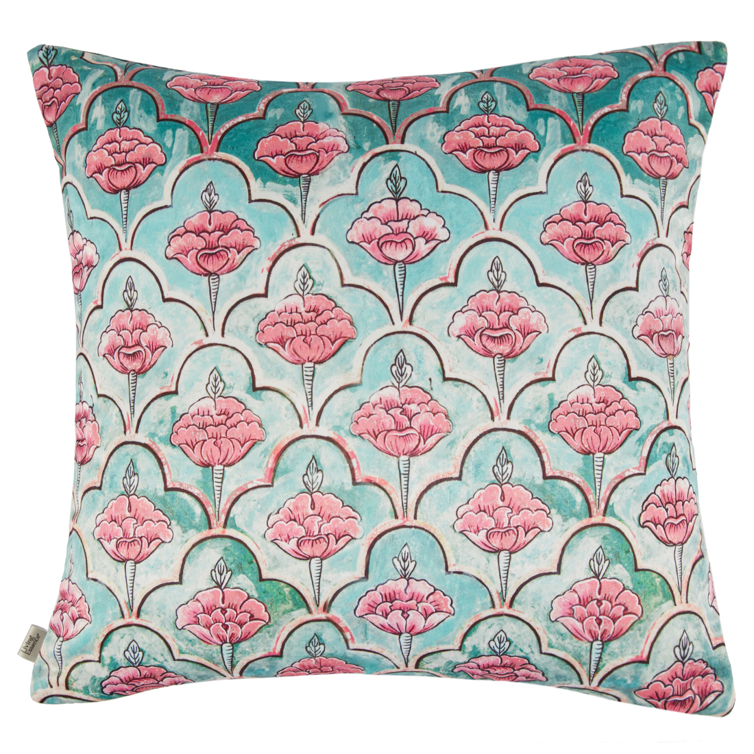 Digital Cushion Cover Peepal Cushion Covers in Poly Satin Colour by Living Essence