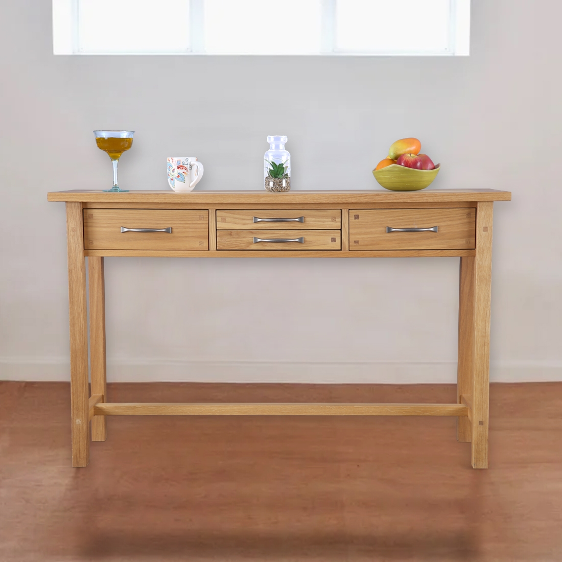 Buy Laura Ashley Milton Solid Wood Console Table In Oiled Oak Finish Color By Hometown Online At Best Price Hometown
