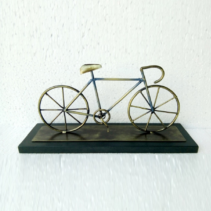 Cycle On Wooden Panel D Iron Wall Accents in Multi Colour by Royce