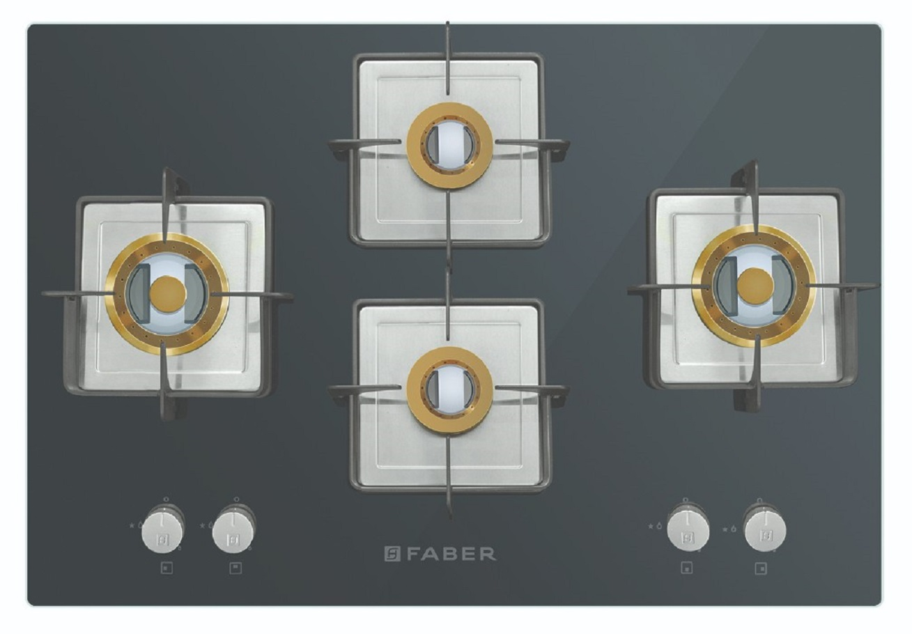 Faber Stainless steel Built- In-Hob HTG 754 CRS BR CI by HomeTown
