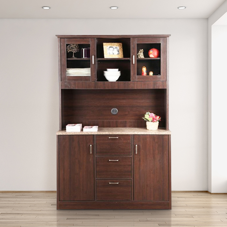 Combo Engineered Wood Storage Cabinet in Wenge Colour by HomeTown