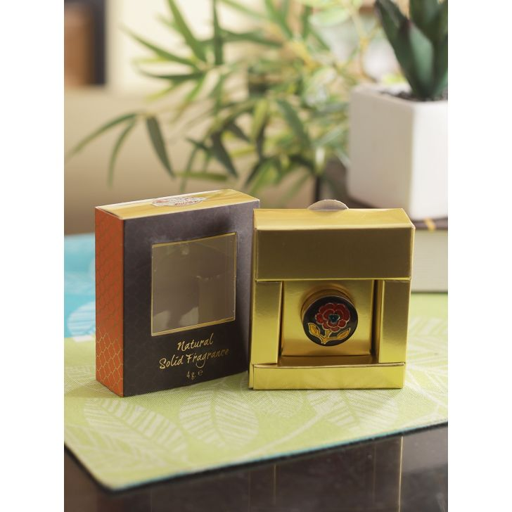 Luxurious Veda Fragrance Travel Friendly Solid Perfume in Sandalwood Colour