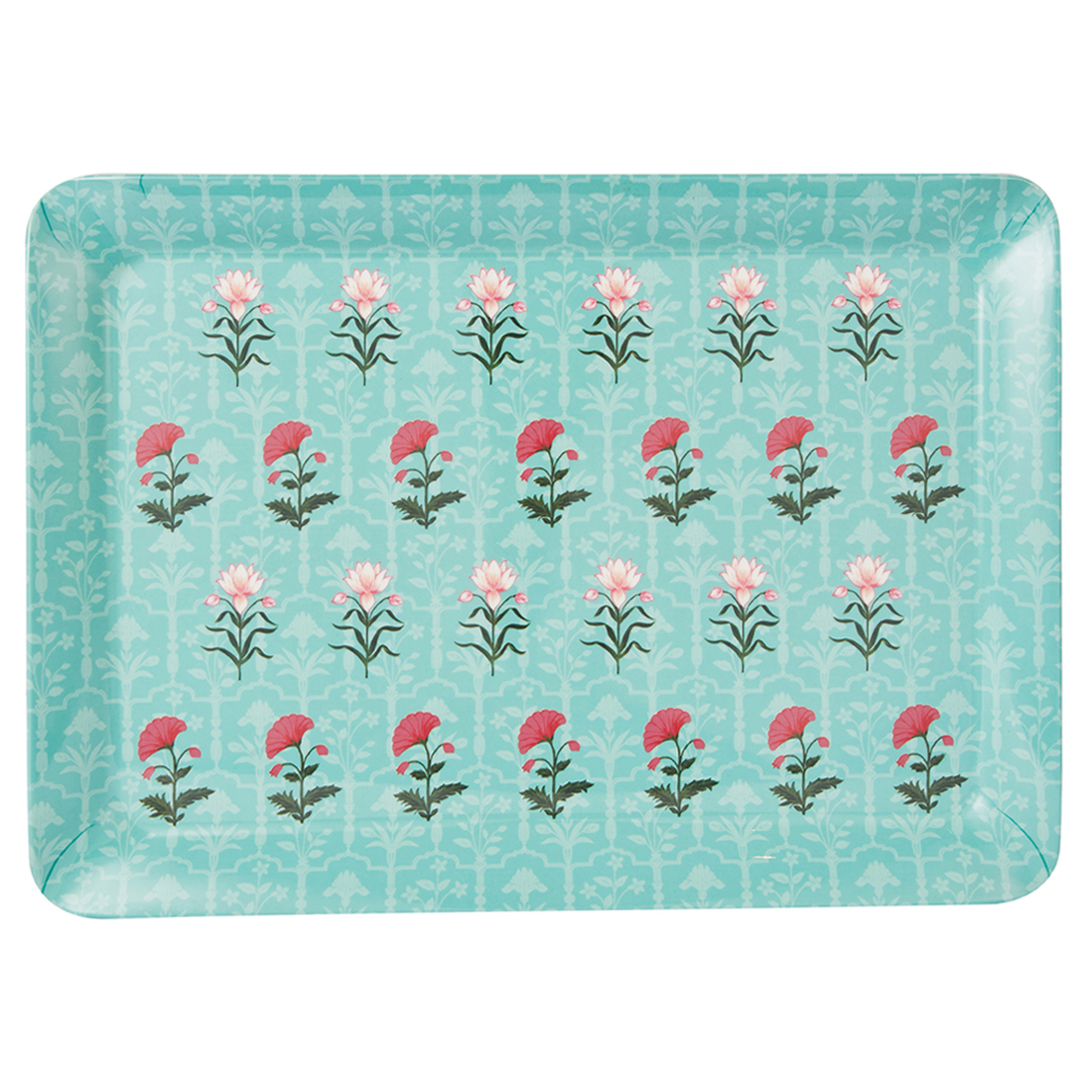 Rambagh Stylo Medium Tray Trays in Multicolour Colour by Living Essence