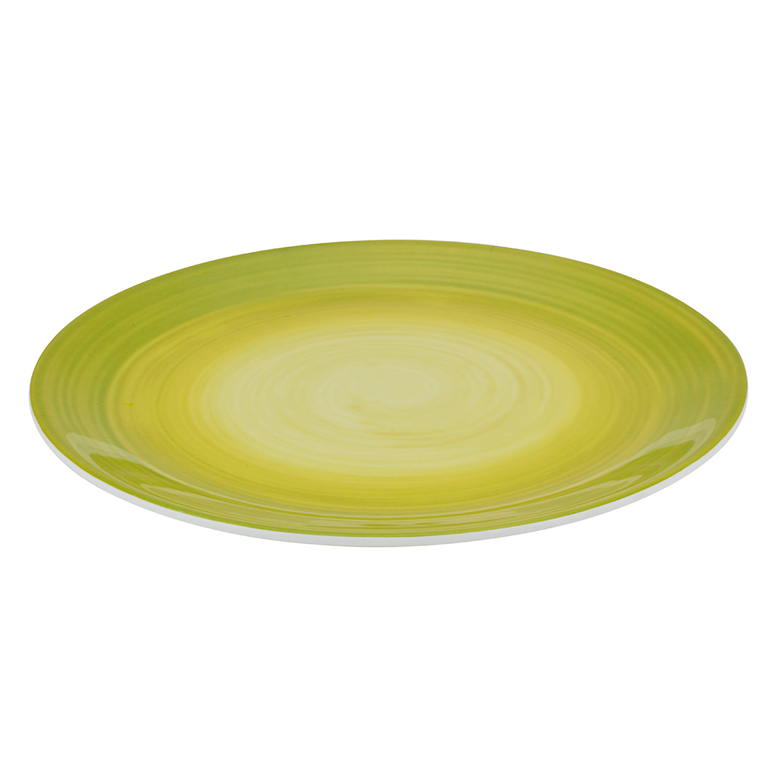Urmi Lime Swirl Buffet Plate Food Grade Melamine Plates in Multi Color Colour by Living Essence