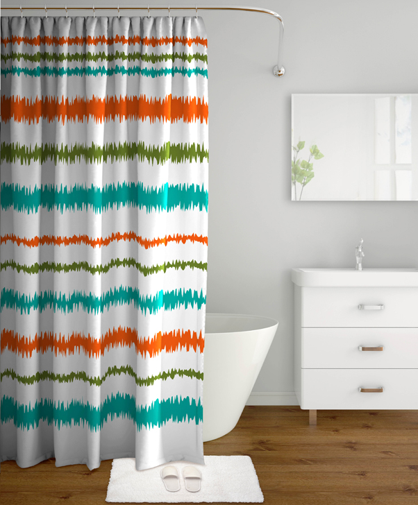 Polyester Shower Curtains by Tangerine