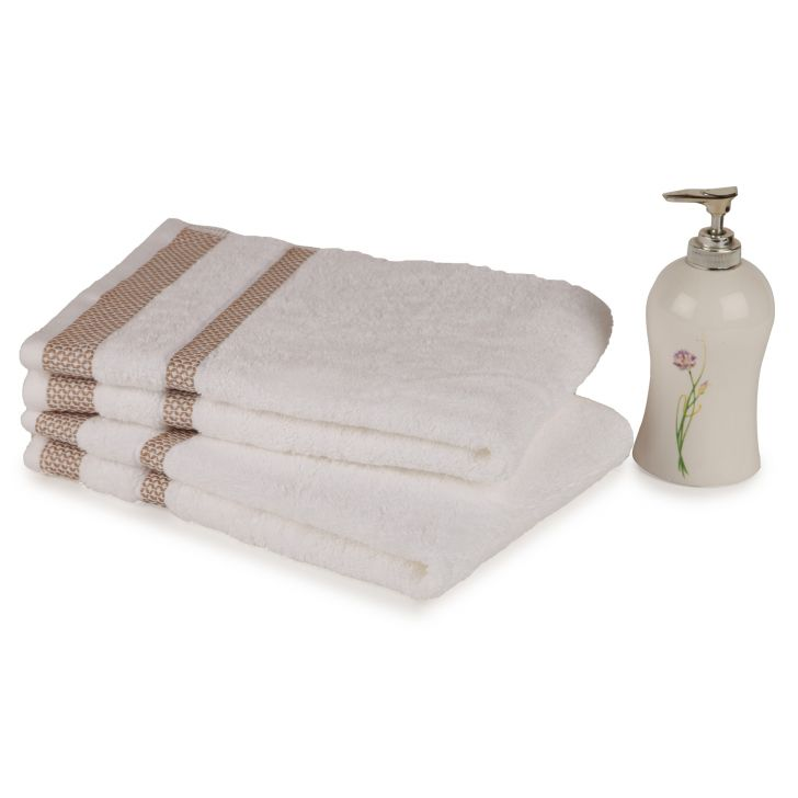 Spaces Hygro White Cotton Hand Towel Set Of 2