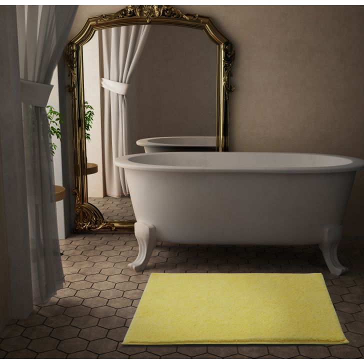 Spaces Occasions 100% Drylon 2355 Gsm Custard 1 Bath Mat