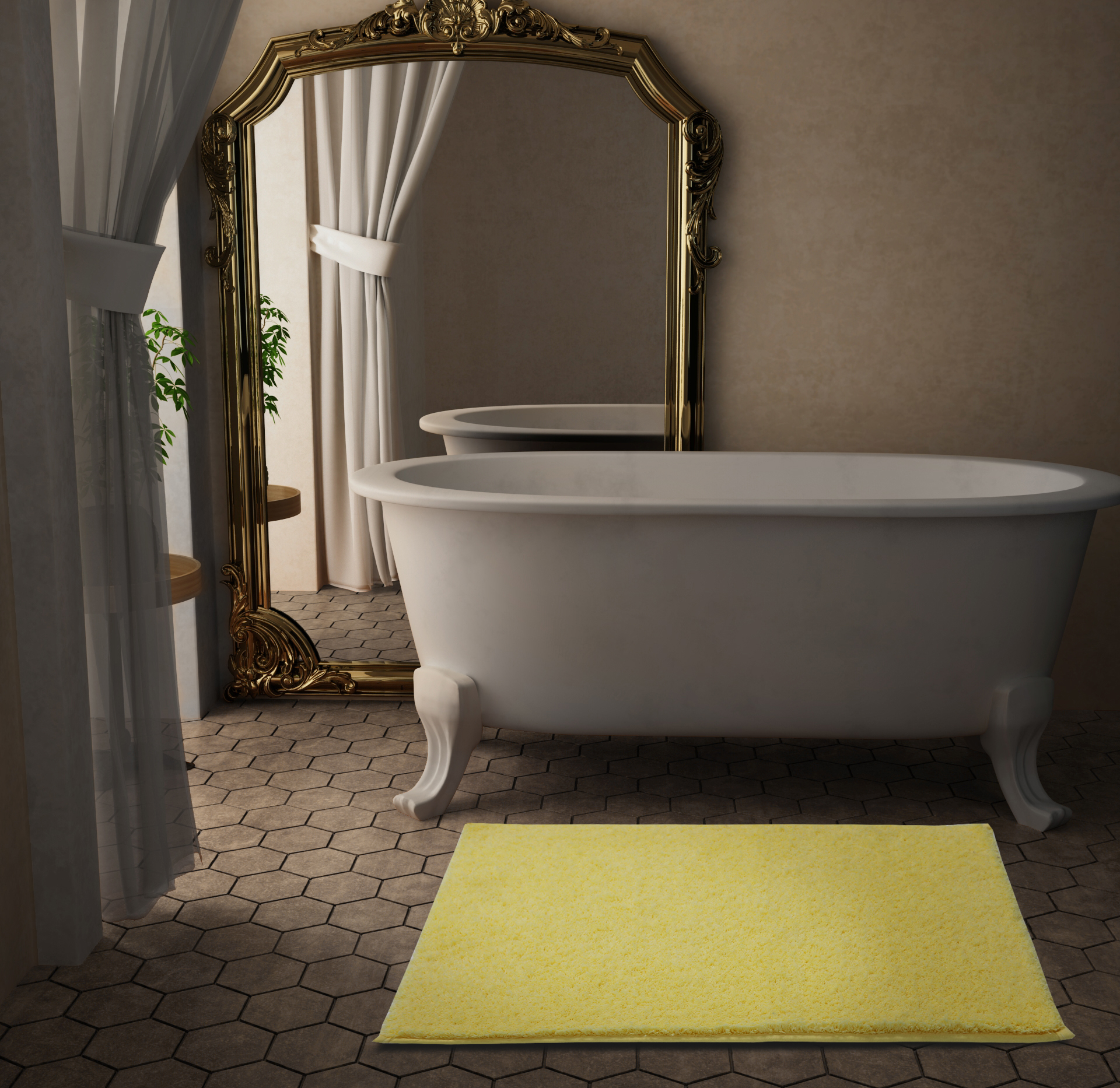 Spaces Atrium Cotton Double Bed Sheets in Custard Colour by Spaces