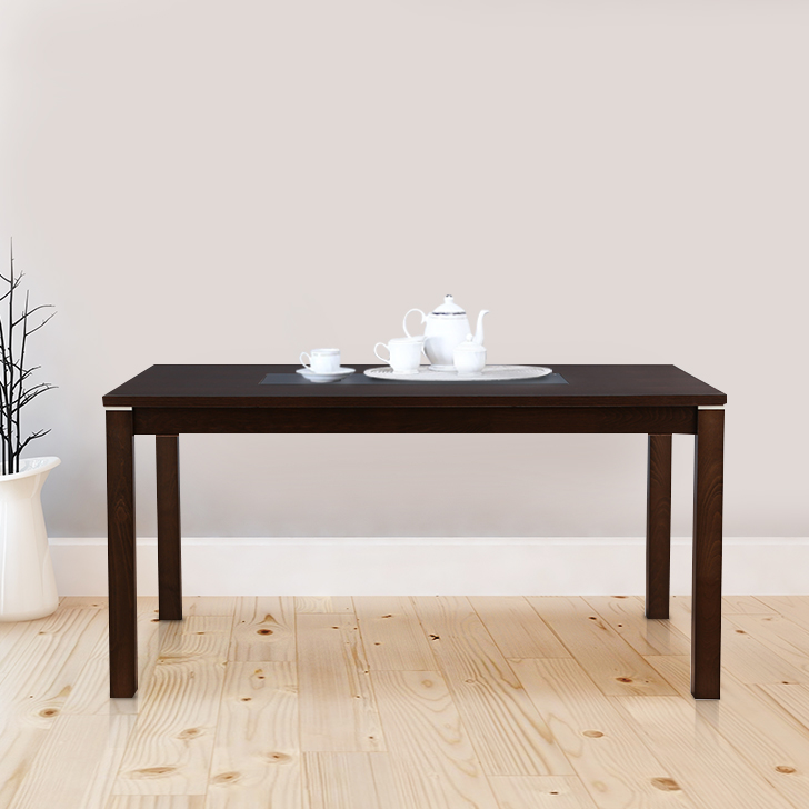 Delton Solid Wood Six Seater Dining Table in Burn Beech Colour by HomeTown
