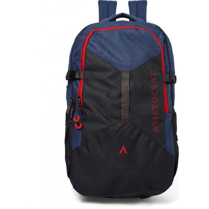 Casual Backpack Polyester Backpack in Blue Colour by ARISTOCRAT
