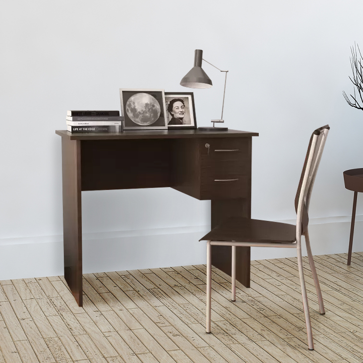 Simply Engineered Wood Study Table in Walnut Colour by HomeTown