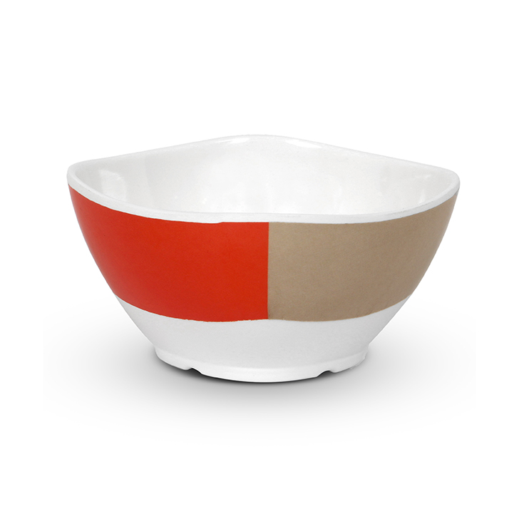 Melamine Veg Bowl Red And White Food Grade Melamine Katori in Red & White Colour by Living Essence