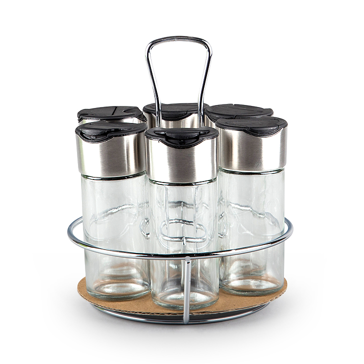 Living Essence Glass Kitchen Organizers in Clear Colour by Living Essence