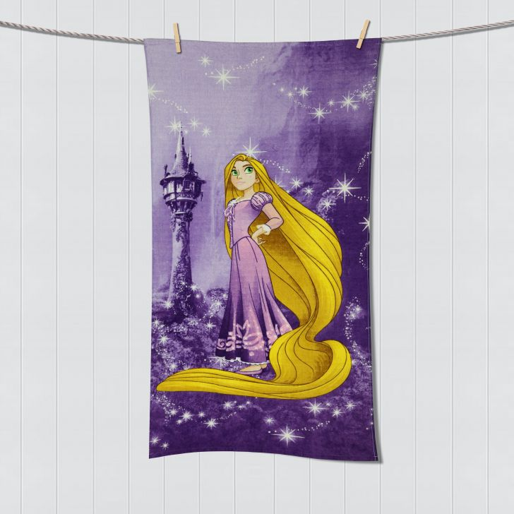 Spaces Disney Rapunzel Purple Bath Towel