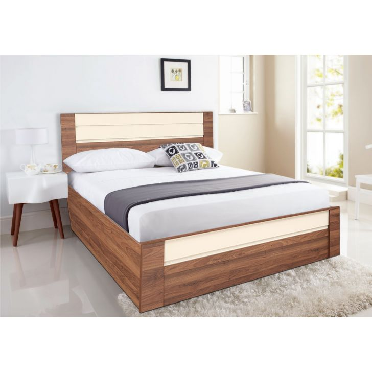 Ambrosia Engineered Wood Hydraulic Storage Queen Size Bed in Multi Color Colour by HomeTown