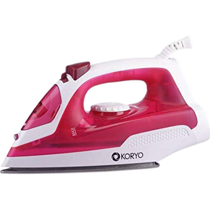 Vertical Steam Iron With Self Clean Technology (1250 W) - Red by Koryo