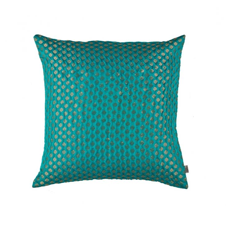 Noir Cushion Cover Teal Polyester Cushion Covers in Teal Colour by Living Essence