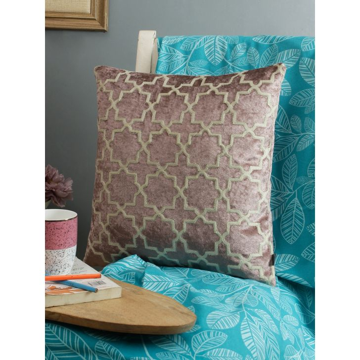 Living Essence Polyester Cushion Cover in Toupe Colour by Living Essence