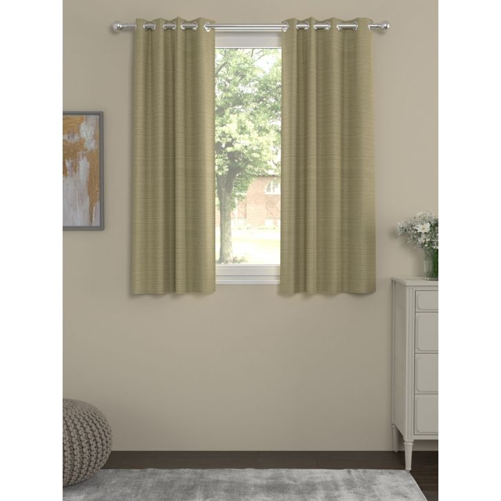 Solid Window Curtain In Beige Color By Rosara Home