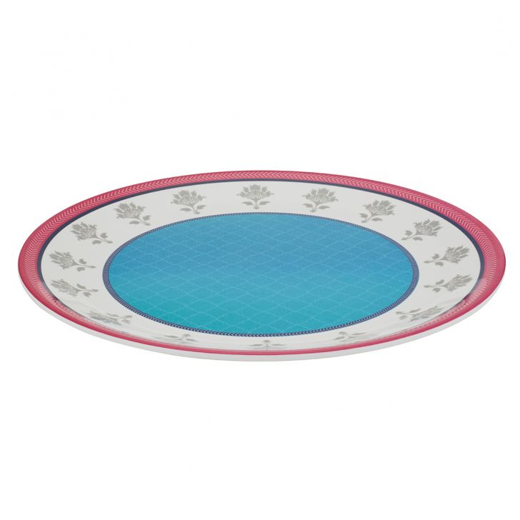 Urmi Vrindavan Buffet Plate Food Grade Melamine Plates in Multi Color Colour by Living Essence