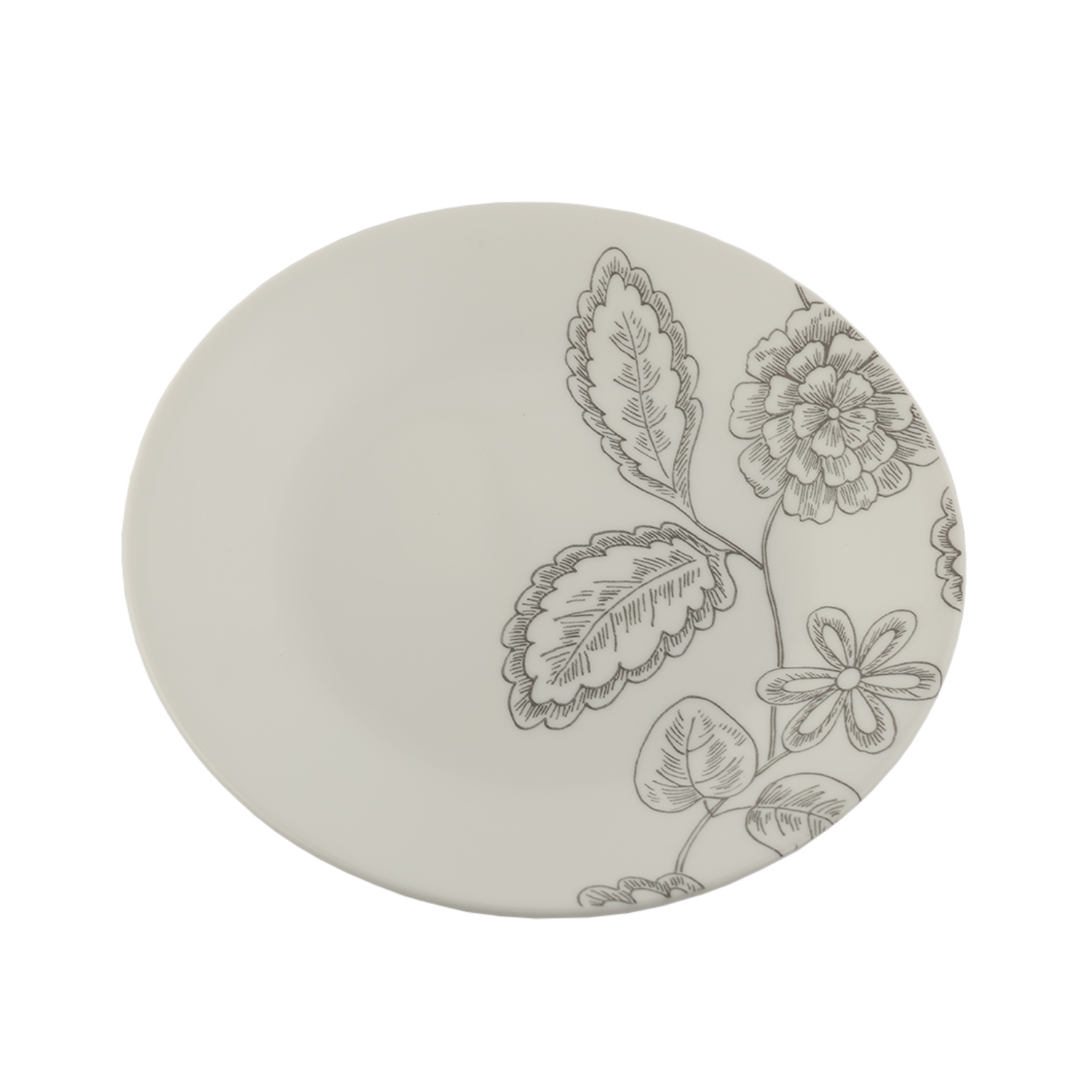 Core Dinner Plate Remini 1125452 Glass Plates in White Colour by Corelle