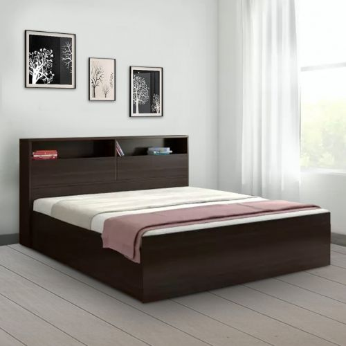 How Big Is A Queen Size Bed.Buy Alex Engineered Wood Box Storage King Size Bed In Dark Walnut