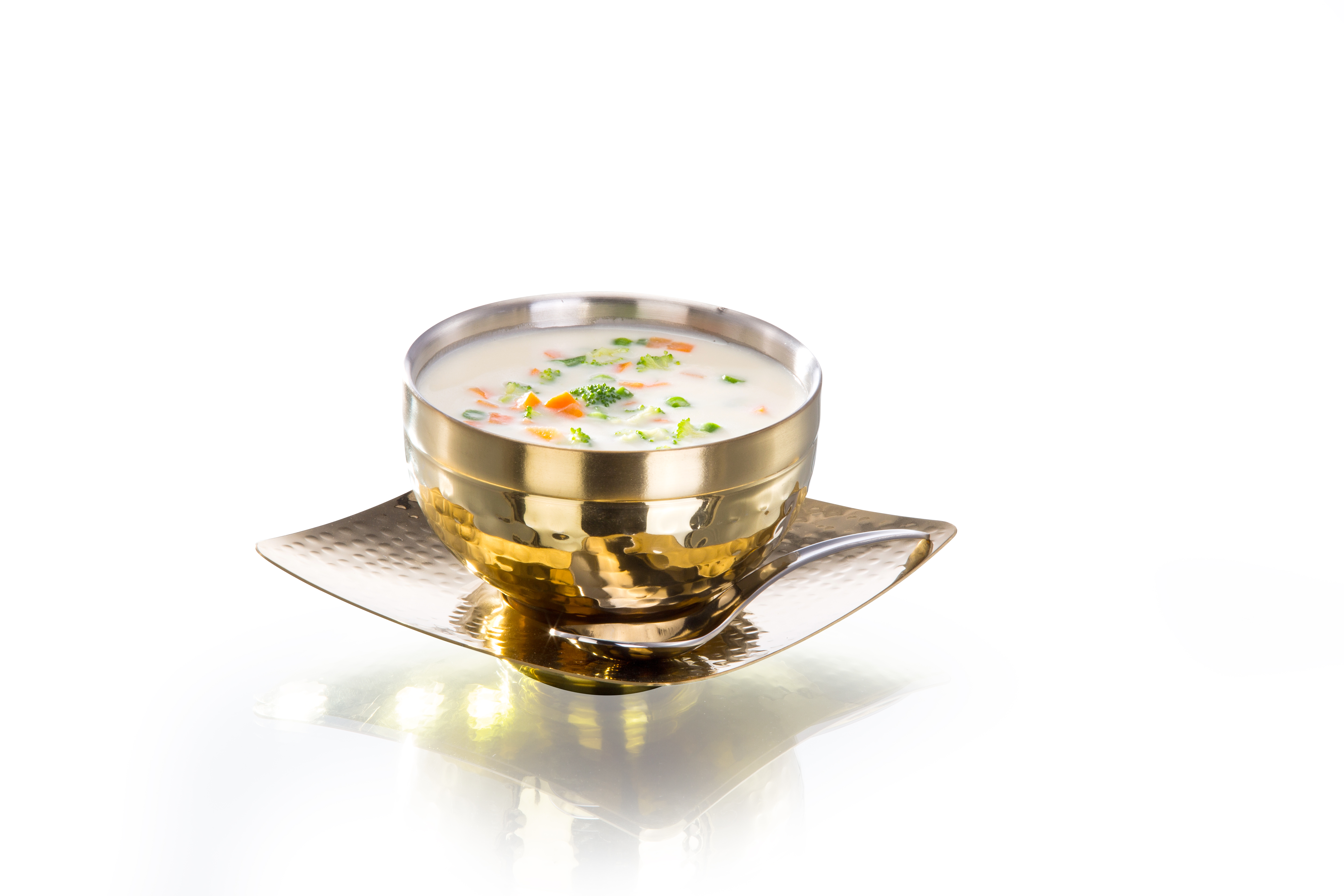 Soup Bowl Hammered Gold Titanium Stainless steel Soup Bowls in Gold Colour by Sanjeev Kapoor