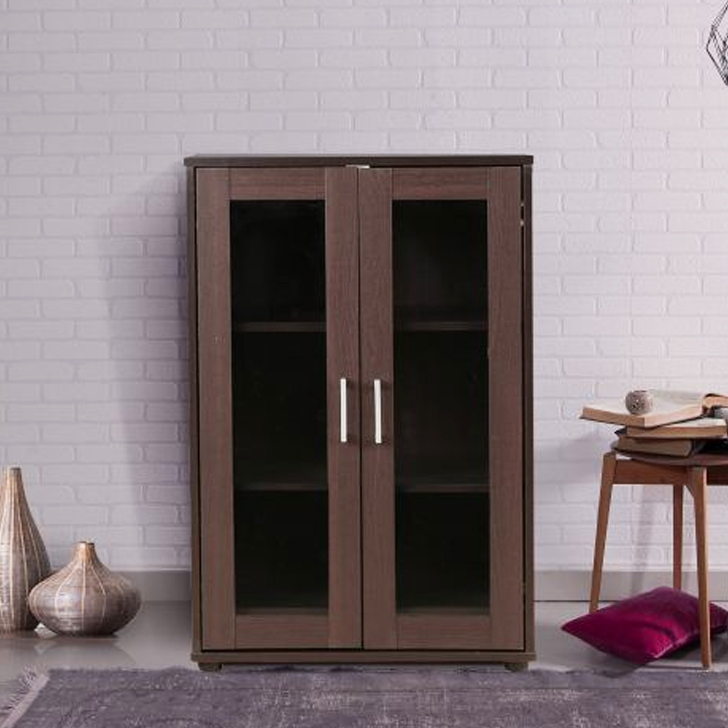 Epson Engineered Wood Storage Cabinet in Beech Chocolate Colour by HomeTown