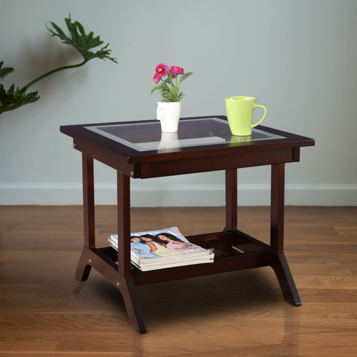 Patrick Solid Wood Side Table in Brown Colour by HomeTown