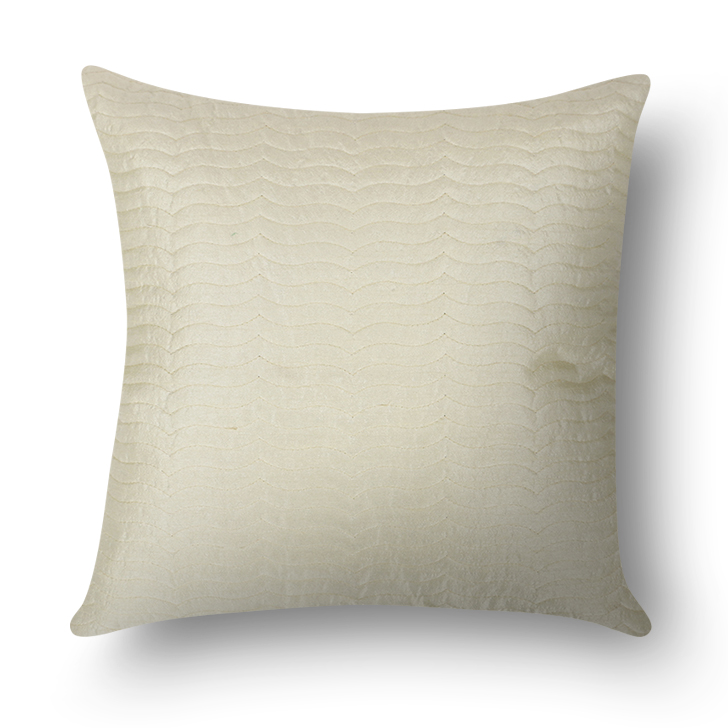 Solid Cushion Cover Off White Polyester Cushion Covers in Off White Colour by Living Essence