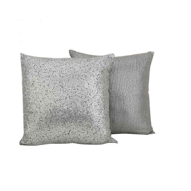 Shimera Grey Polyester Filled Cushions in Grey Colour by Living Essence