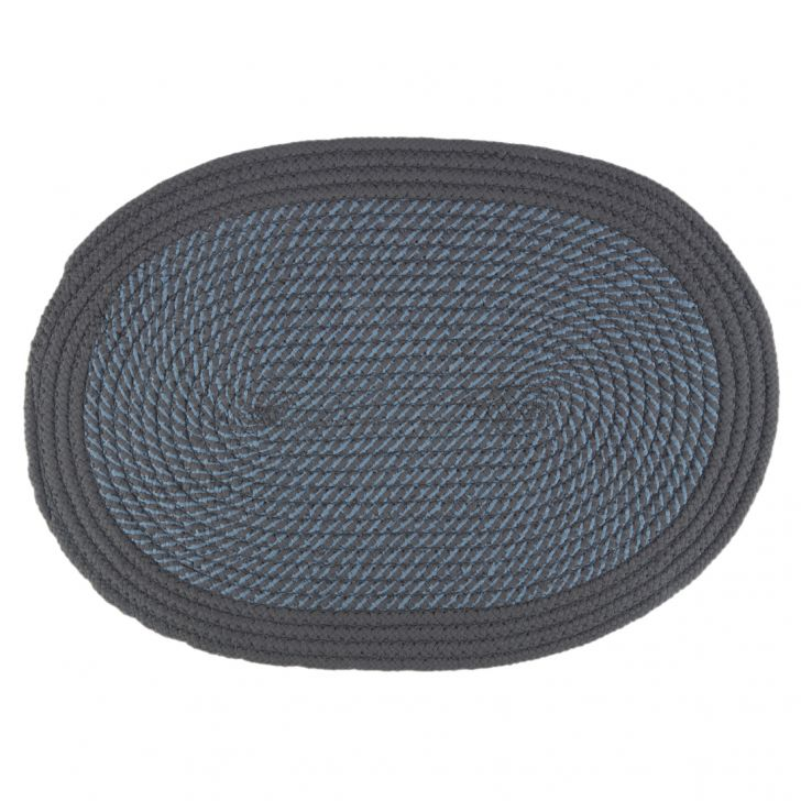 Briaded Polypropylene Mats & Rugs in Grey Colour by Living Essence