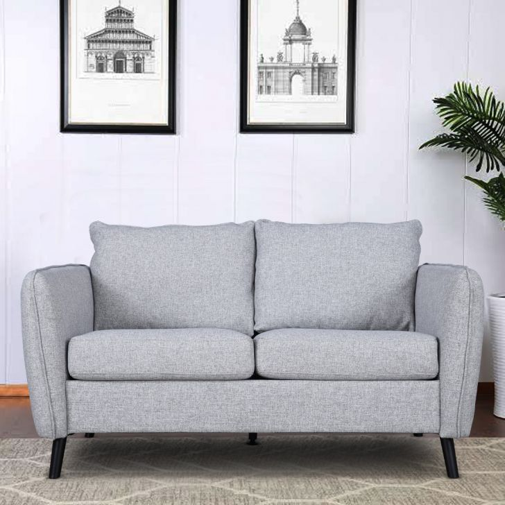 Sorrento Fabric Two Seater Sofa in Grey Colour by HomeTown