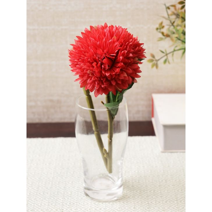 Elora Single Red Daisy Polyester Artificial Flower 42cm in Red Colour