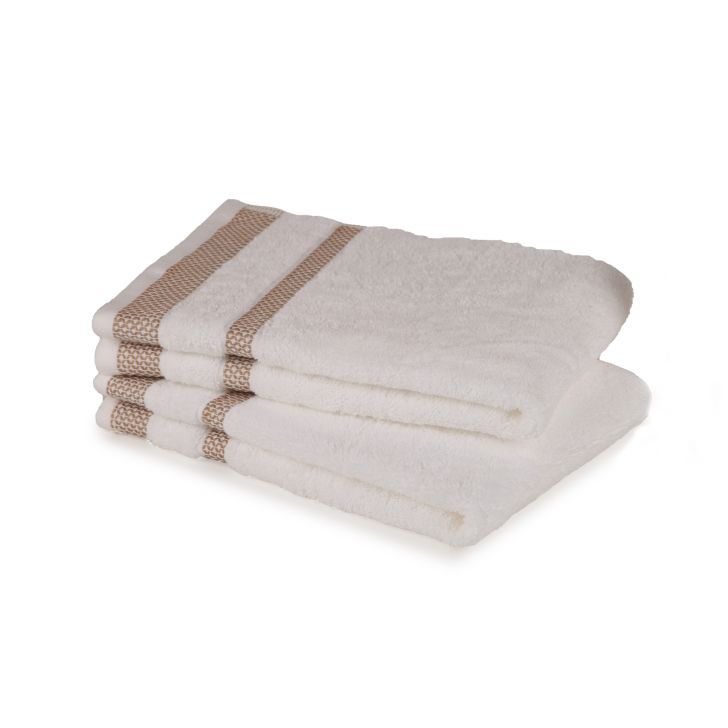 Spaces Hygro White Small 2 Pcs Hand Towel Set