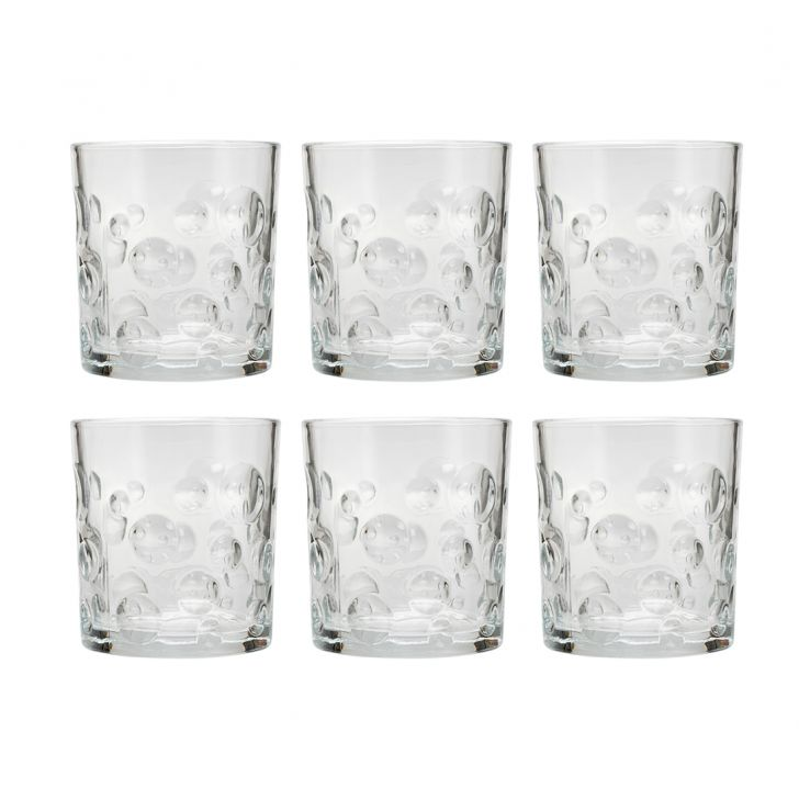 London Crystal Glass Set 6 230 Ml Glass Bar Glassware in Transparent Colour by Sanjeev Kapoor
