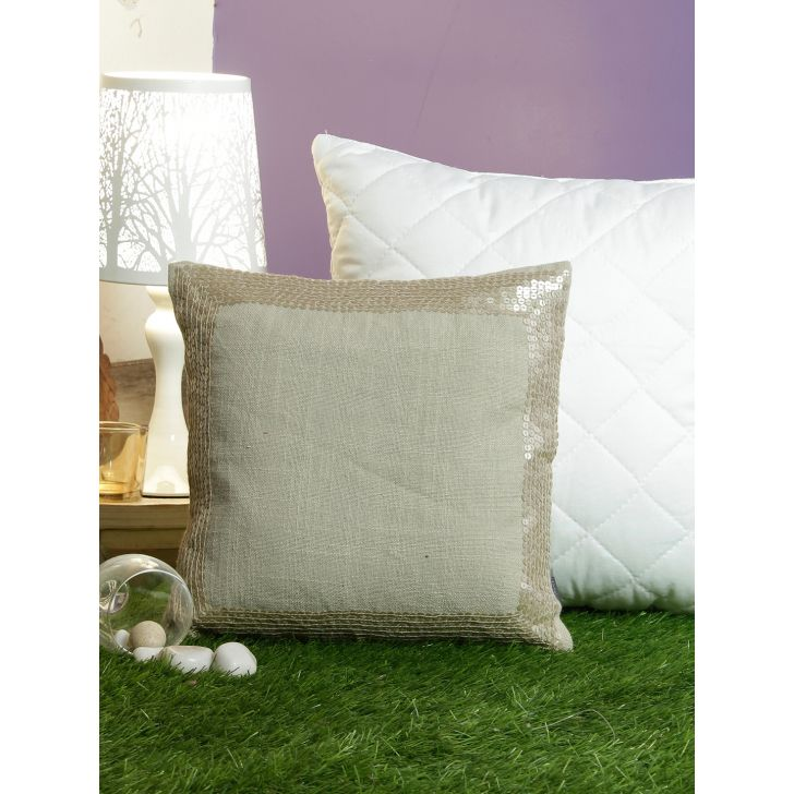 Alvaro Cotton Cushion Covers in Off White Colour by Living Essence