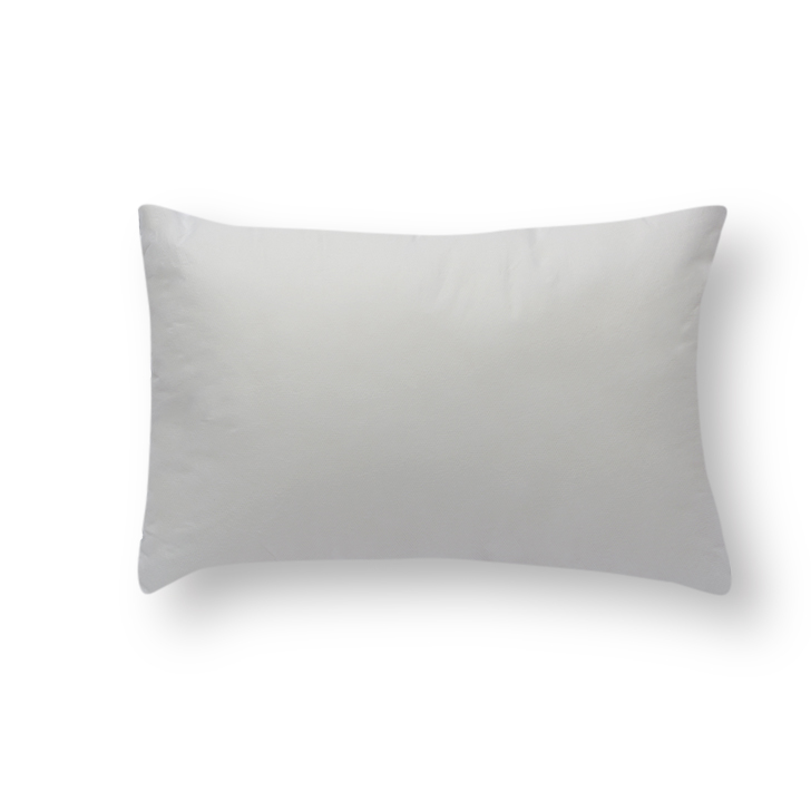Solid Rectangle Cushion Filler White Polyester Cushion Fillers in White Colour by Living Essence