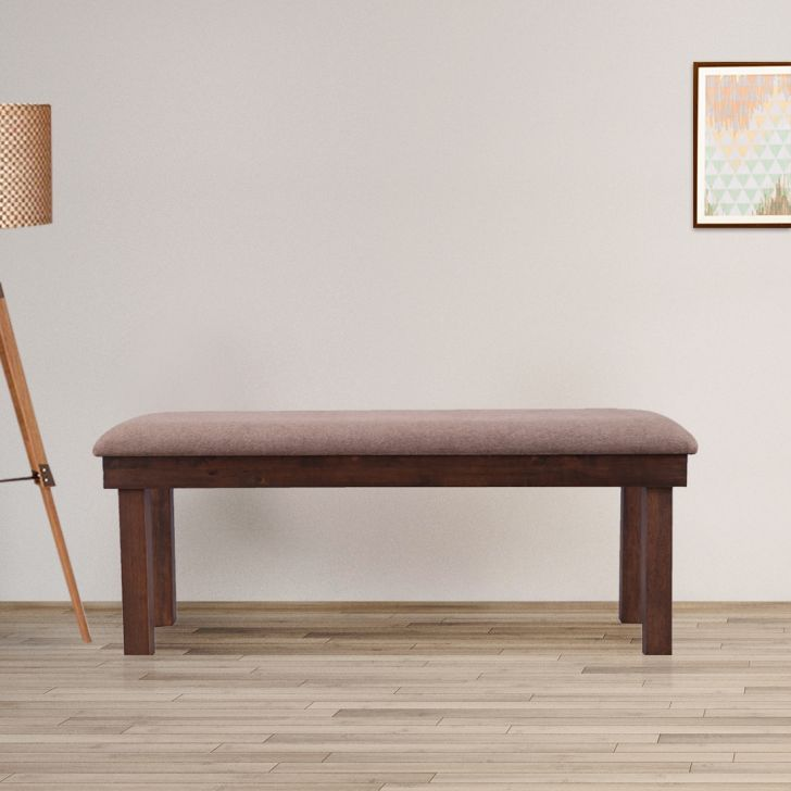 Hopton Solid Wood Six Seater Bench in Brown Colour by HomeTown