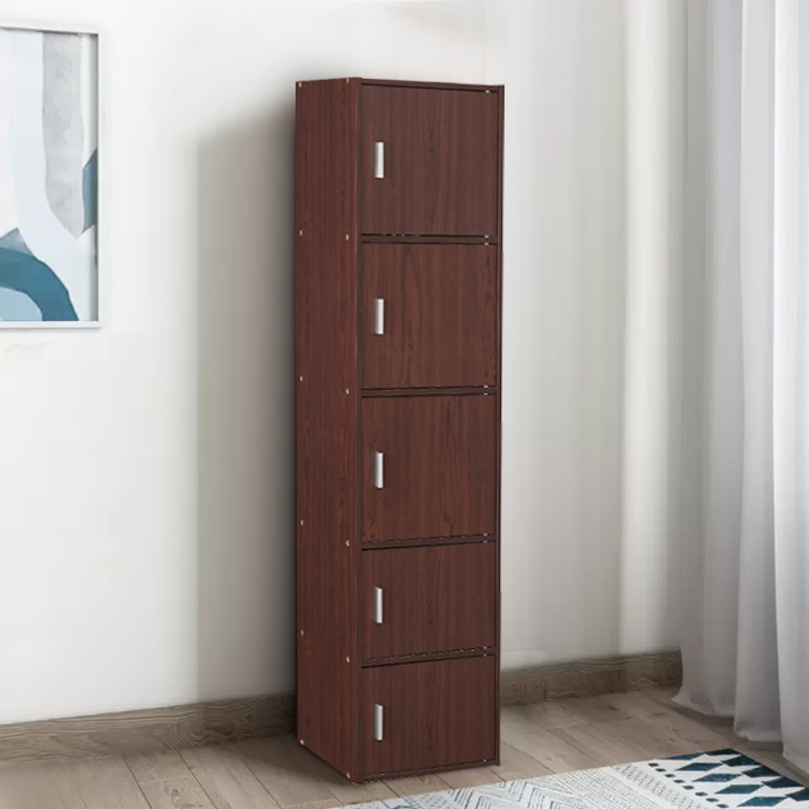 Albert Engineered Wood Multipurpose Cabinet in Cherry Brown & Walnut Colour by HomeTown