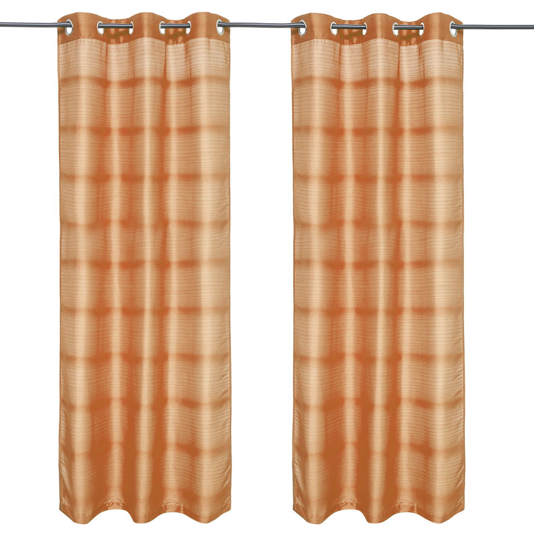 Fiesta Solid set of 2 Polyester Door Curtains in Mustard Colour by Living Essence